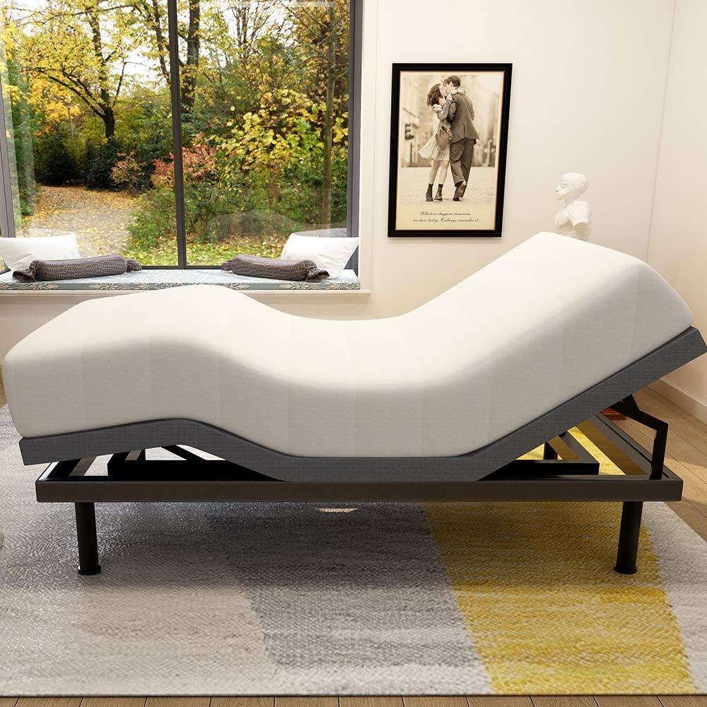 Milemont Adjustable Bed Base Frame Smart Electric Beds Foundation