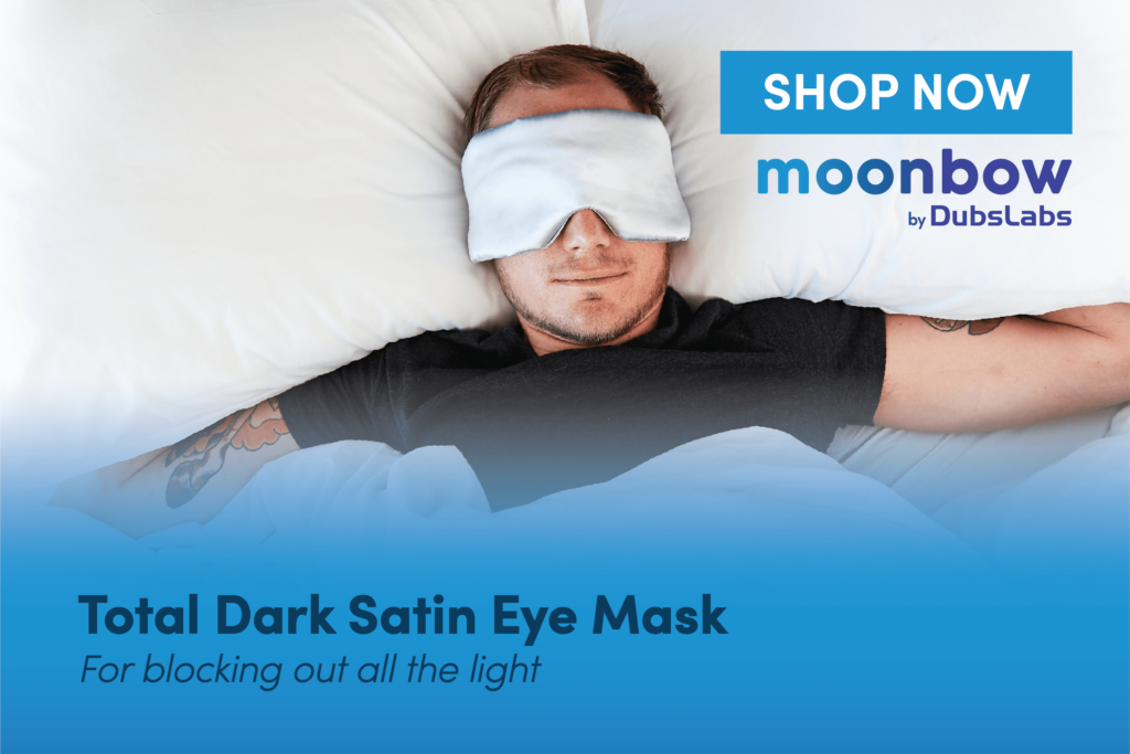 Total Dark Satin Eye Mask
